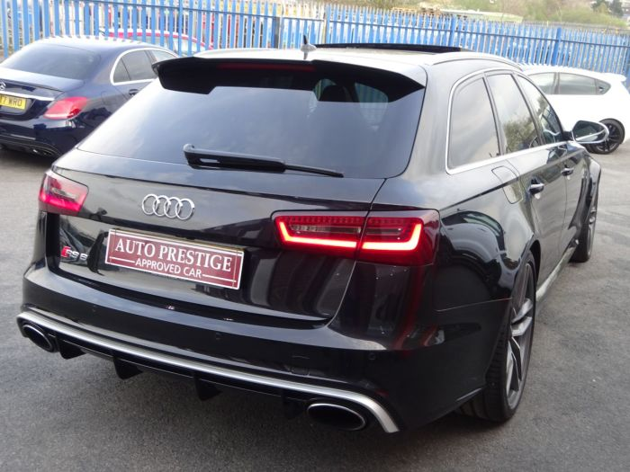 Audi RS6 4.0 Bi-Turbo Quattro 5dr Tip Auto 64 REG DYNAMIC PACK PAN ROOF MILTEKS Estate Petrol Black