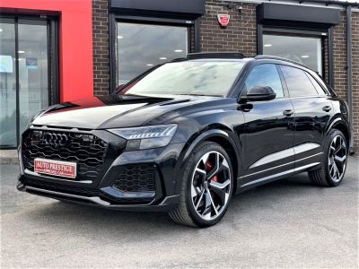 Audi Rs Q8 4.0 RS Q8 TFSI Quattro Vorsprung 5dr Tiptronic RED STITCHED LEATHER AS NEW... Estate Petrol BlackAudi Rs Q8 4.0 RS Q8 TFSI Quattro Vorsprung 5dr Tiptronic RED STITCHED LEATHER AS NEW... Estate Petrol Black at Autoprestige Bradford