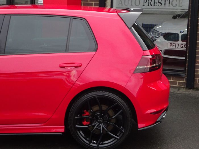 Volkswagen Golf 2.0 TSI R 5dr DSG BLACK PACK RACING LINE WHEEL UP[GRADE AERO PACK LOW MILEAGE Hatchback Petrol Red