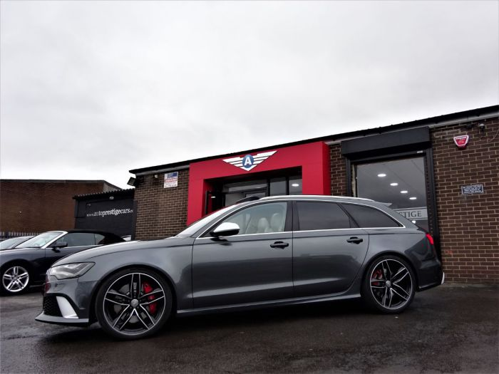 Audi RS6 4.0 BI-TURBO 560 MODEL 64 REG EVERY POSSIBLE EXTRA EXTENSIVE HISTORY FILE AS NEW NIGHT VISION PAN ROOF Estate Petrol Grey