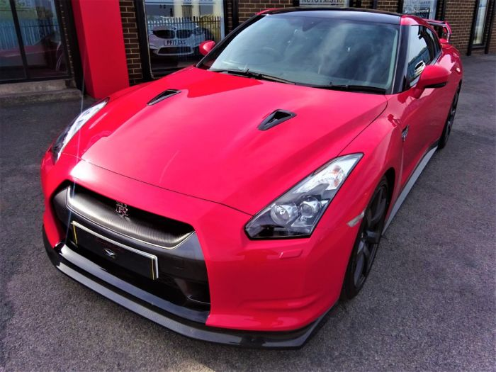 Nissan GT-R 3.8 Black Edition 2dr Auto [Sat Nav] LITCHFIELD AND CARBON UPGRADES MASSIVE HISTORY STAGE II Coupe Petrol Red