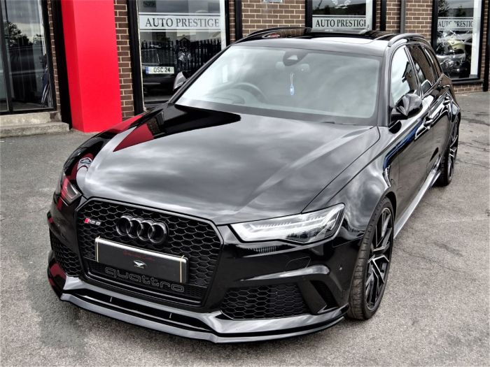 Audi RS6 4.0T FSI Quattro RS 6 Performance 5dr Tip Auto MYTHOS BLACK HUGH SPEC 1 OWNER Estate Petrol Black